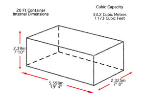 20ft container internal dimensions drawing