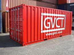 Red 20 foot cargo container