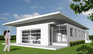 Seto 1960 model shipping container home from Logical Homes