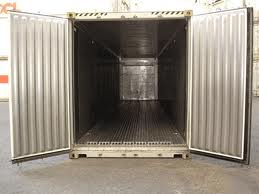 Interior of a 40 foot reefer shipping container