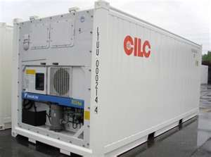 exterior of 20 foot reefer shipping container