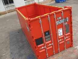 Open top container with no tarp.
