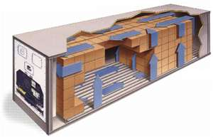 diagram showing internal air movement in refrigerated container