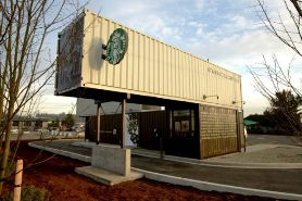 Starbucks made out of shipping containers